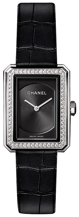 Chanel Boy-Friend Damklocka H4883 Svart/Läder
