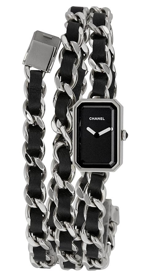 Chanel Premiere Damklocka H3749 Svart/Stål
