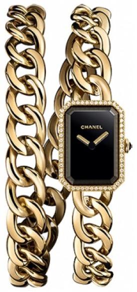 Chanel Premiere Damklocka H3750 Svart/18 karat gult guld
