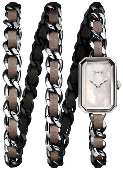 Chanel Premiere Damklocka H4326 Vit/Läder