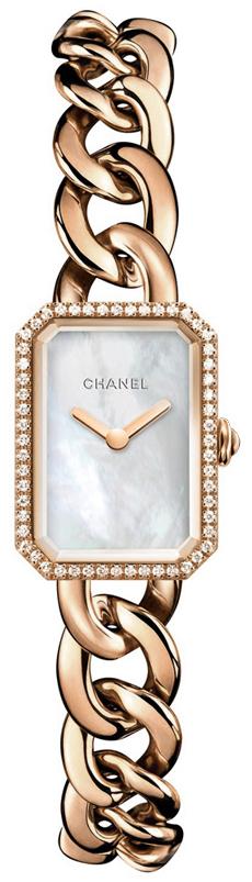 Chanel Premiere Damklocka H4411 Vit/18 karat roséguld