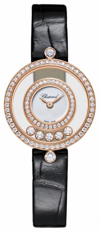 Chopard Happy Diamonds Icons Damklocka 203957-5201 Vit/Läder Ø25 mm
