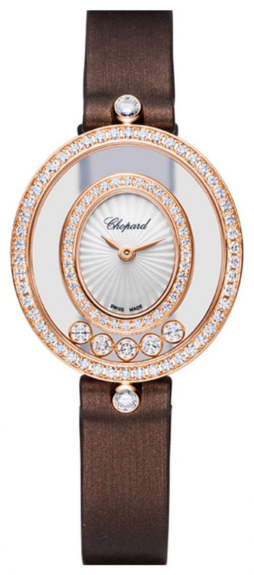 Chopard Happy Diamonds Icons Damklocka 204292-5201 Vit/Satin Ø25.8 mm