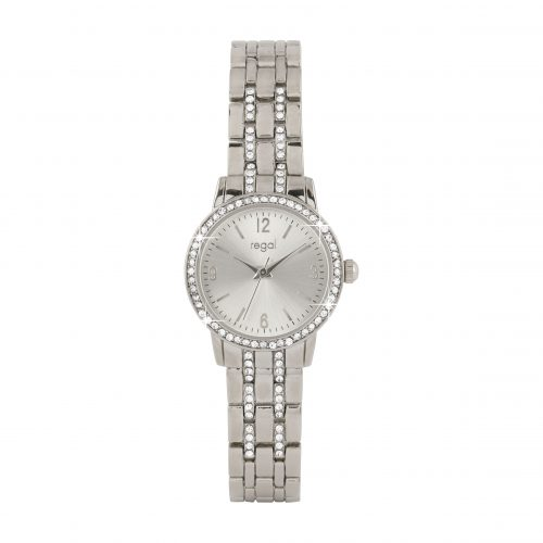Damklocka - klocka med silverfärgat armband och tavla