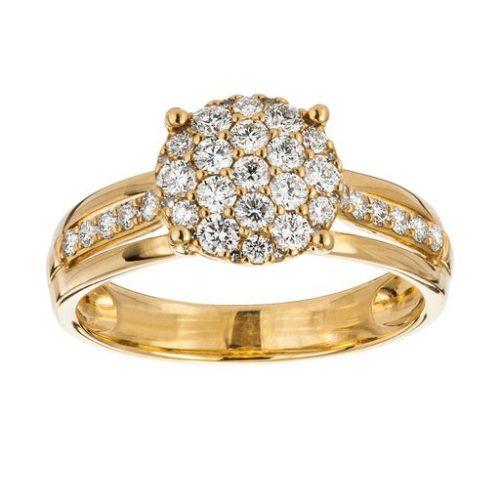 Diamant ring 18K guld, 15.5