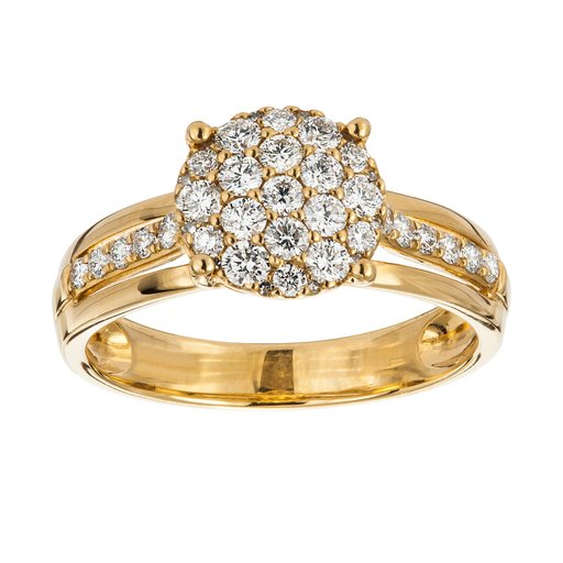 Diamant ring 18K guld, 17.5