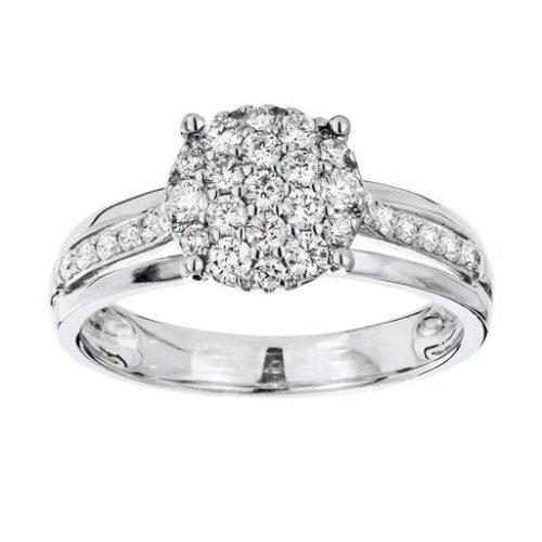 Diamant ring i 18K guld, 16.5