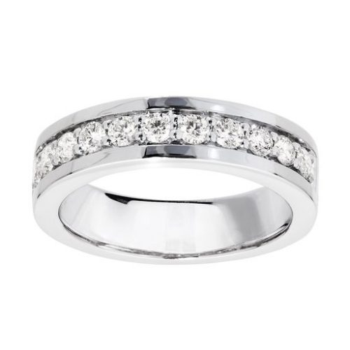 Diamant ring i 18K guld, 17.5