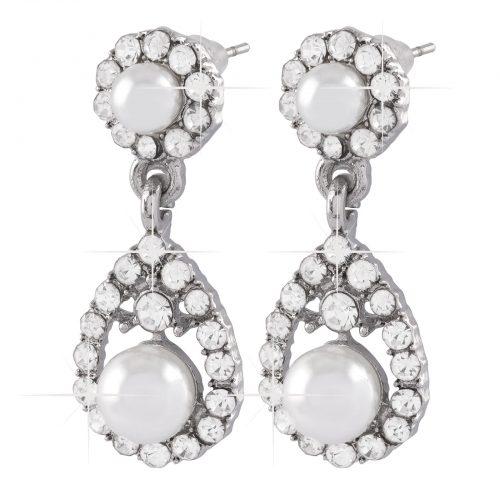 Droppformade örhängen Crystal