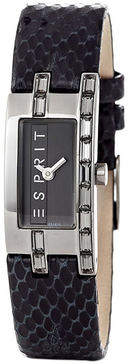 Esprit Dress Damklocka ES103182004 Svart/Läder