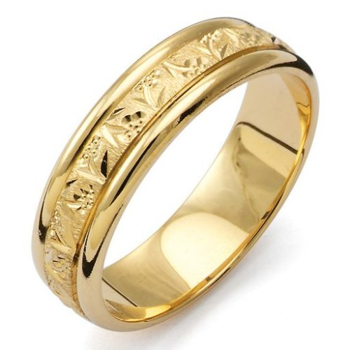 Förlovningsring i 18K guld, 49