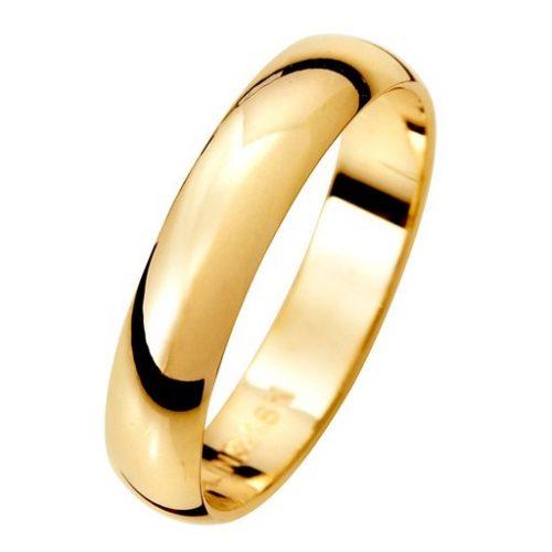 Förlovningsring i 18K guld 4mm, 57