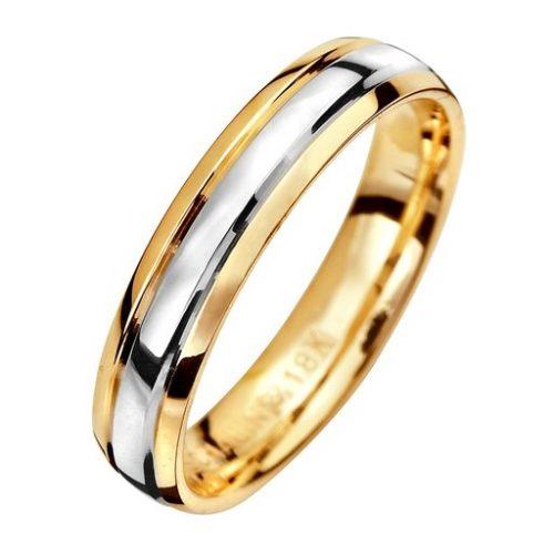 Förlovningsring i 18K guld 4mm, 67