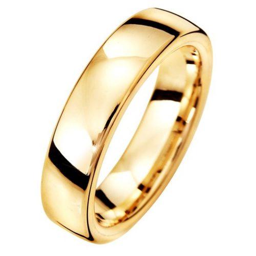 Förlovningsring i 18K guld 5mm, 44
