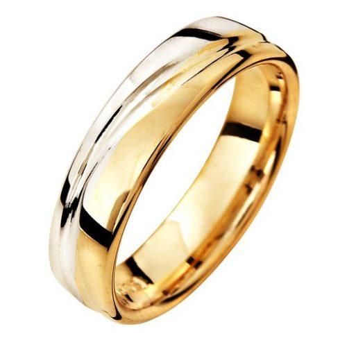 Förlovningsring i 18K guld 5mm, 68