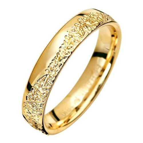 Förlovningsring i 9K guld 4mm, 57