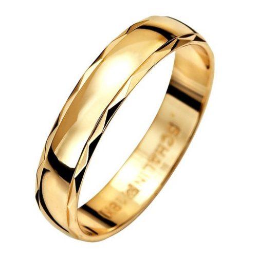 Förlovningsring i 9K guld 4mm, 58