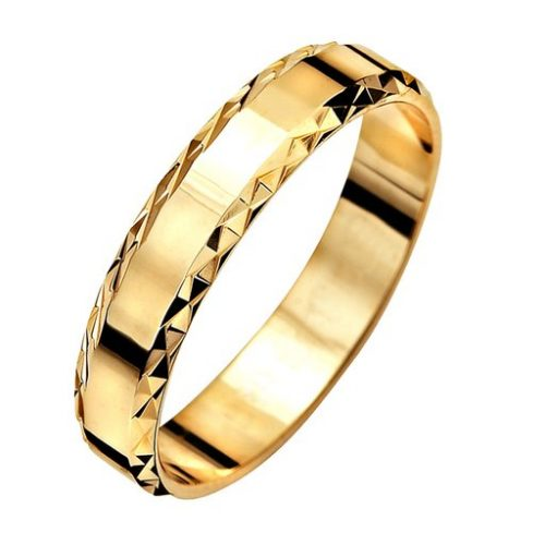 Förlovningsring i 9K guld 4mm, 75