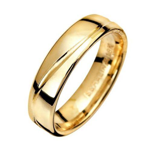 Förlovningsring i 9K guld 5mm, 47