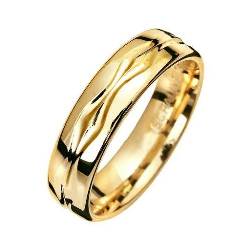 Förlovningsring i 9K guld 5mm, 63