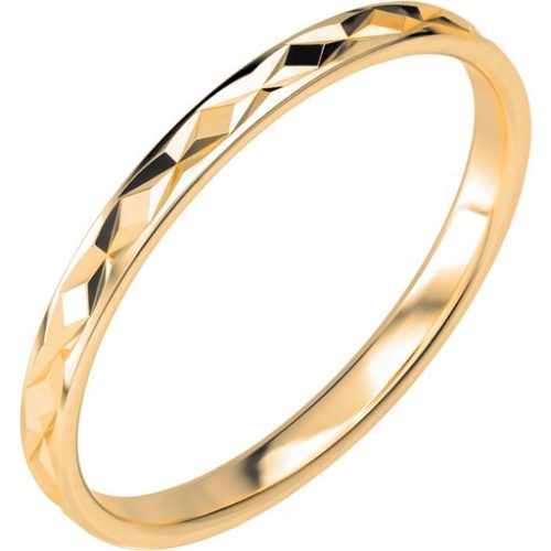 Förlovningsring i 9K guld, 60