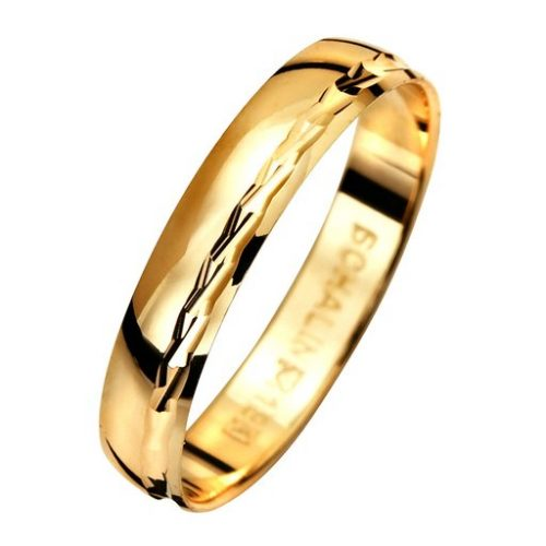 Förlovningsring i 9K guld, 68
