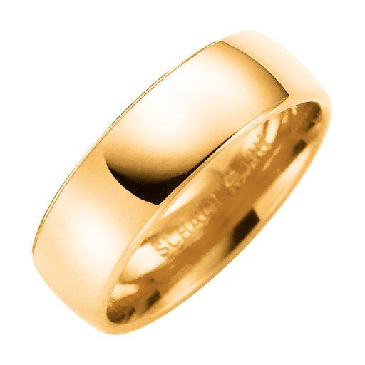 Förlovningsring i 9K guld 6mm, 53