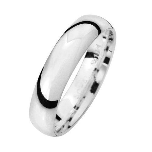 Förlovningsring i äkta silver 4,5mm, 51