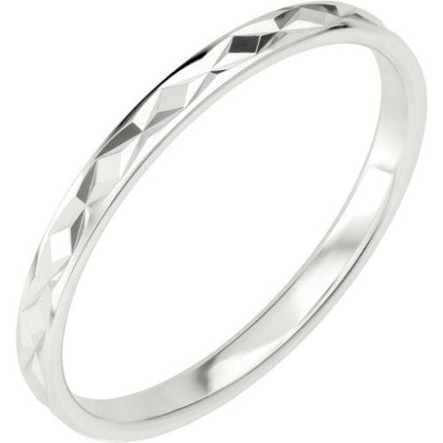 Förlovningsring i äkta silver, 54