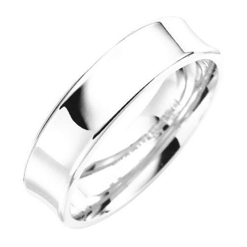 Förlovningsring i äkta silver 5mm, 45