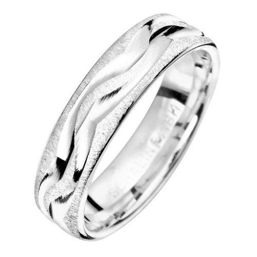 Förlovningsring i äkta silver 5mm, 66
