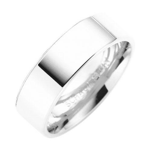 Förlovningsring i äkta silver 6mm, 61
