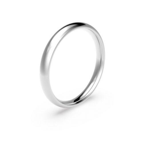 Förlovningsring i platina 3mm, 49