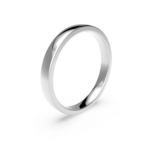 Förlovningsring i platina 3mm, 51