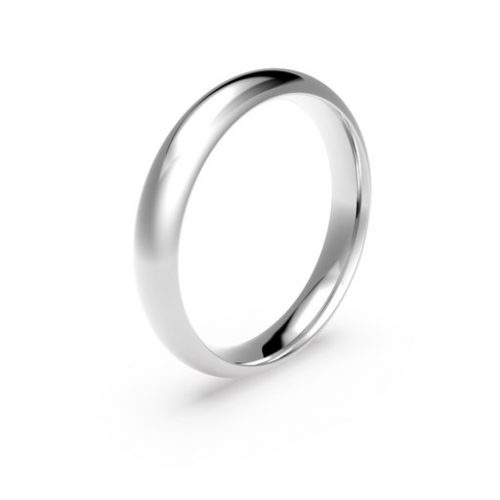 Förlovningsring i platina 4mm, 61