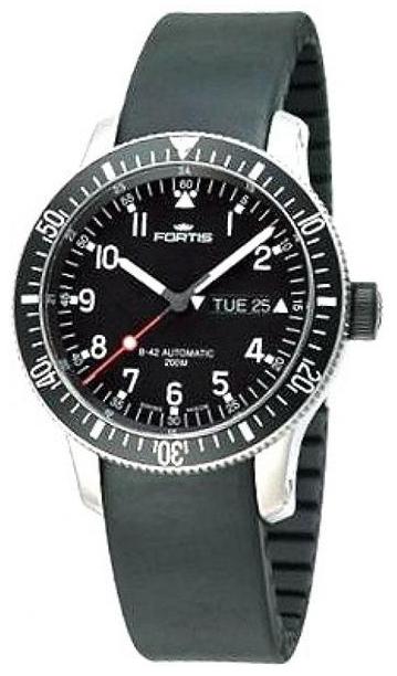 Fortis B-42 Official Cosmonauts Herrklocka 647.10.11.K Svart/Gummi