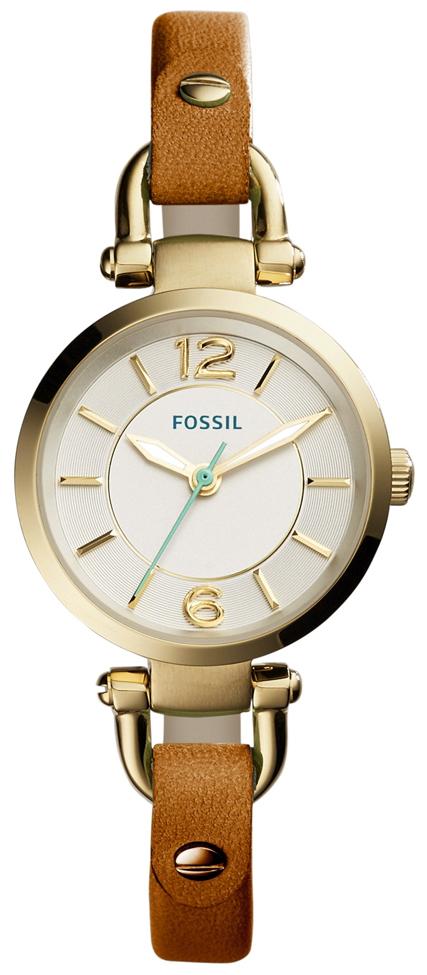 Fossil Casual Damklocka ES4000 Silverfärgad/Läder Ø26 mm
