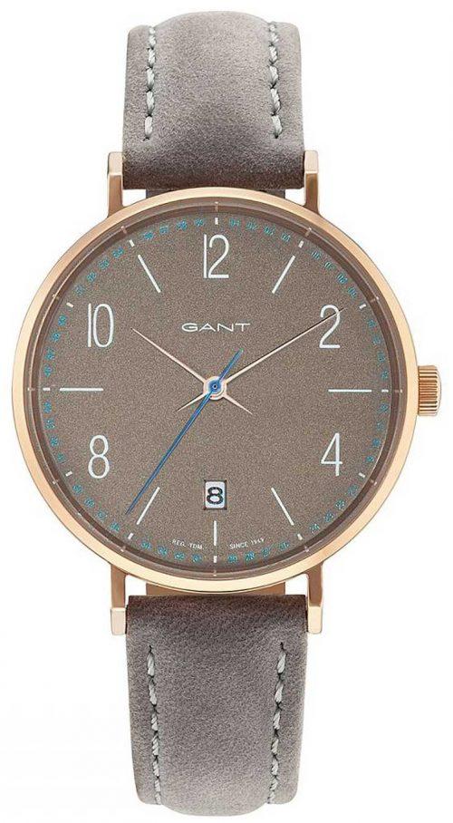 Gant 99999 Damklocka GT035004 Grå/Läder Ø36 mm