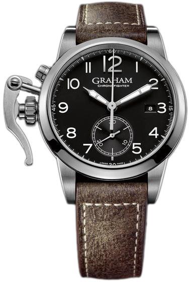 Graham Chronofighter Herrklocka 2CXAS.B01A Svart/Läder Ø42 mm