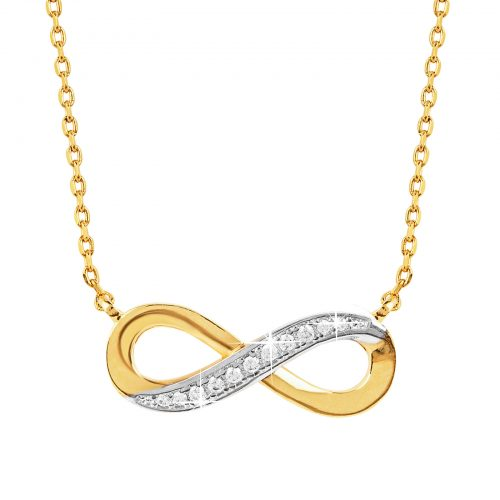Guldpläterat halsband med infinity-symbol