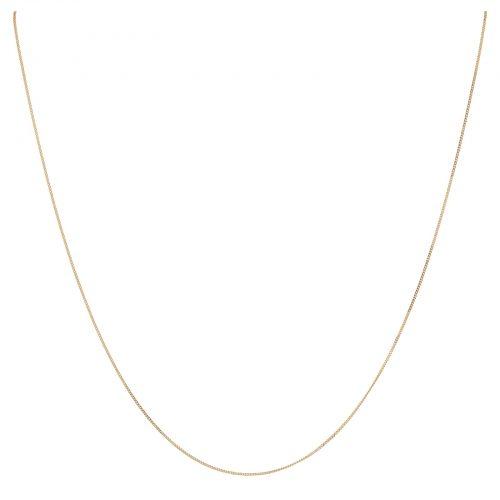 Halsband 18k guld - pansarlänk 42 cm