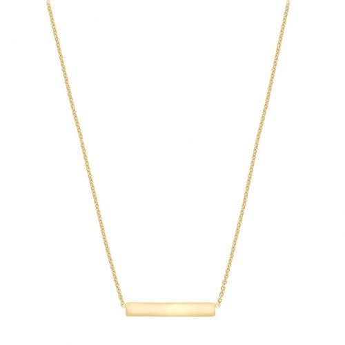Halsband 9K Guld 41-43 cm - Bricka