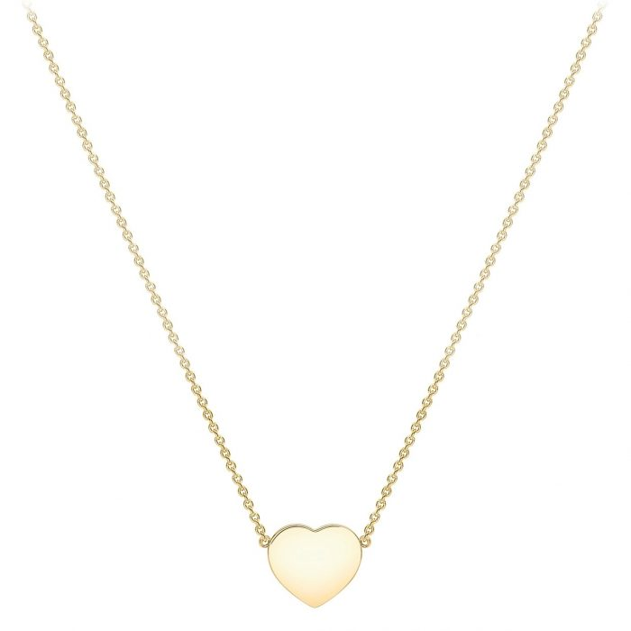 Halsband 9K Guld 41-43 cm - Hjärta
