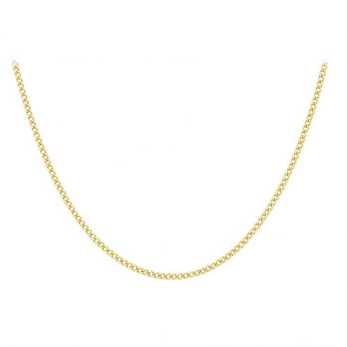 Halsband 9K Guld -Curb Chain 51 cm