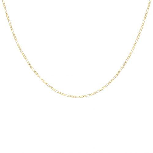 Halsband 9K Guld - Figarokedja 46 cm