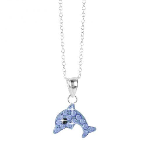 Halsband för barn i Sterling Silver -Delfin