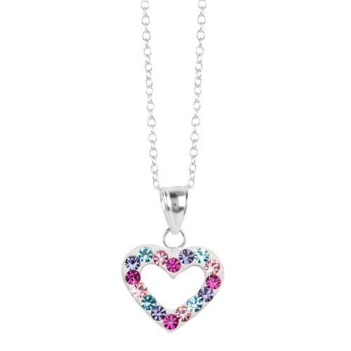 Halsband för barn i Sterling Silver -Hjärta