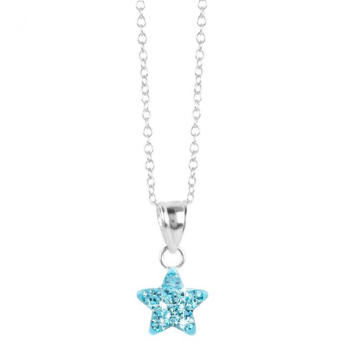 Halsband för barn i Sterling Silver -Stjärna