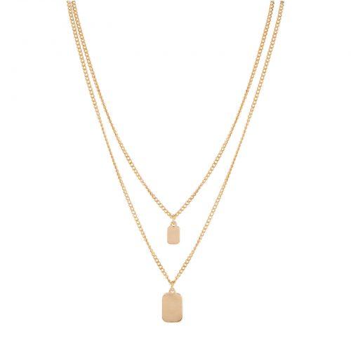 Halsband guldfärgat dam - två rader