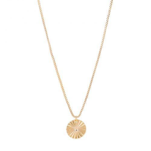 Halsband med berlock guld Montini